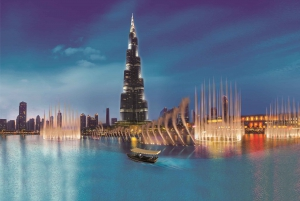 Fountain Show and Burj Lake Ride by Traditional Boat