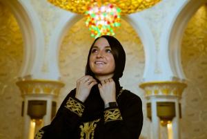 From Dubai: Abu Dhabi Mosque, Qasr Al Watan & Etihad Towers