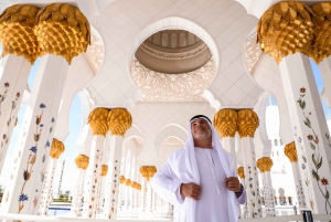 Sheikh Zayed Mosque with Emirates Palace Coffee