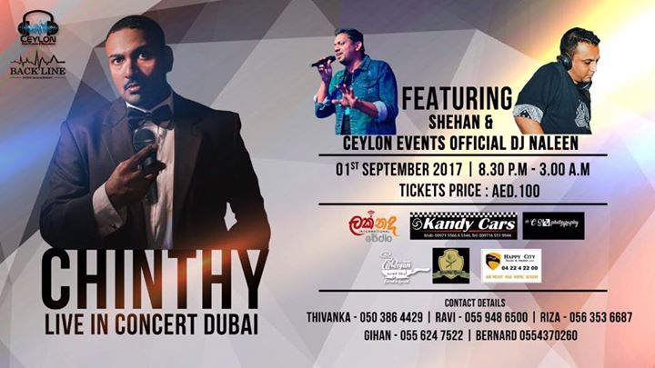Chinthy Live in concert Dubai 2017