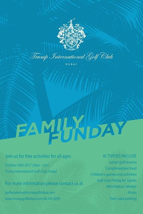 Family Fun Day at Trump International Golf Club, Dubai