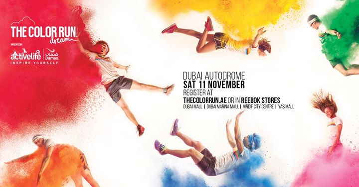 The Color Run Dubai 2017 presented by Daman's Activelife