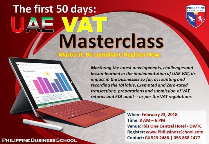 UAE VAT Masterclass 2.0