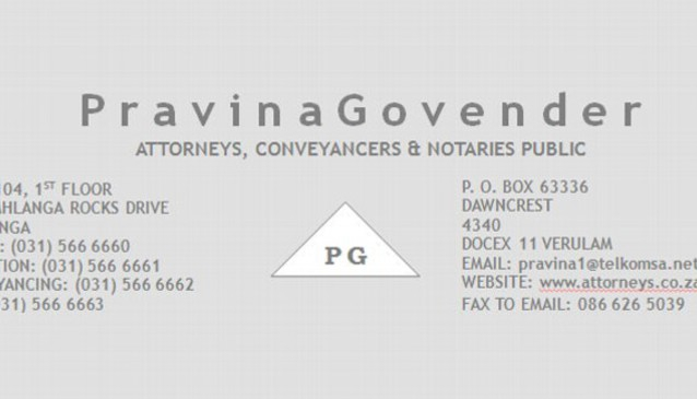 PRAVINA GOVENDER ATTORNEYS