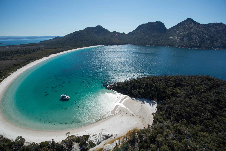 Wineglass Bay & Maria Island Scenic Flight Experience