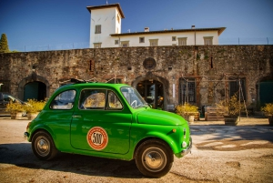 Florence Wine Tasting and Tuscan Lunch in a Vintage Fiat 500
