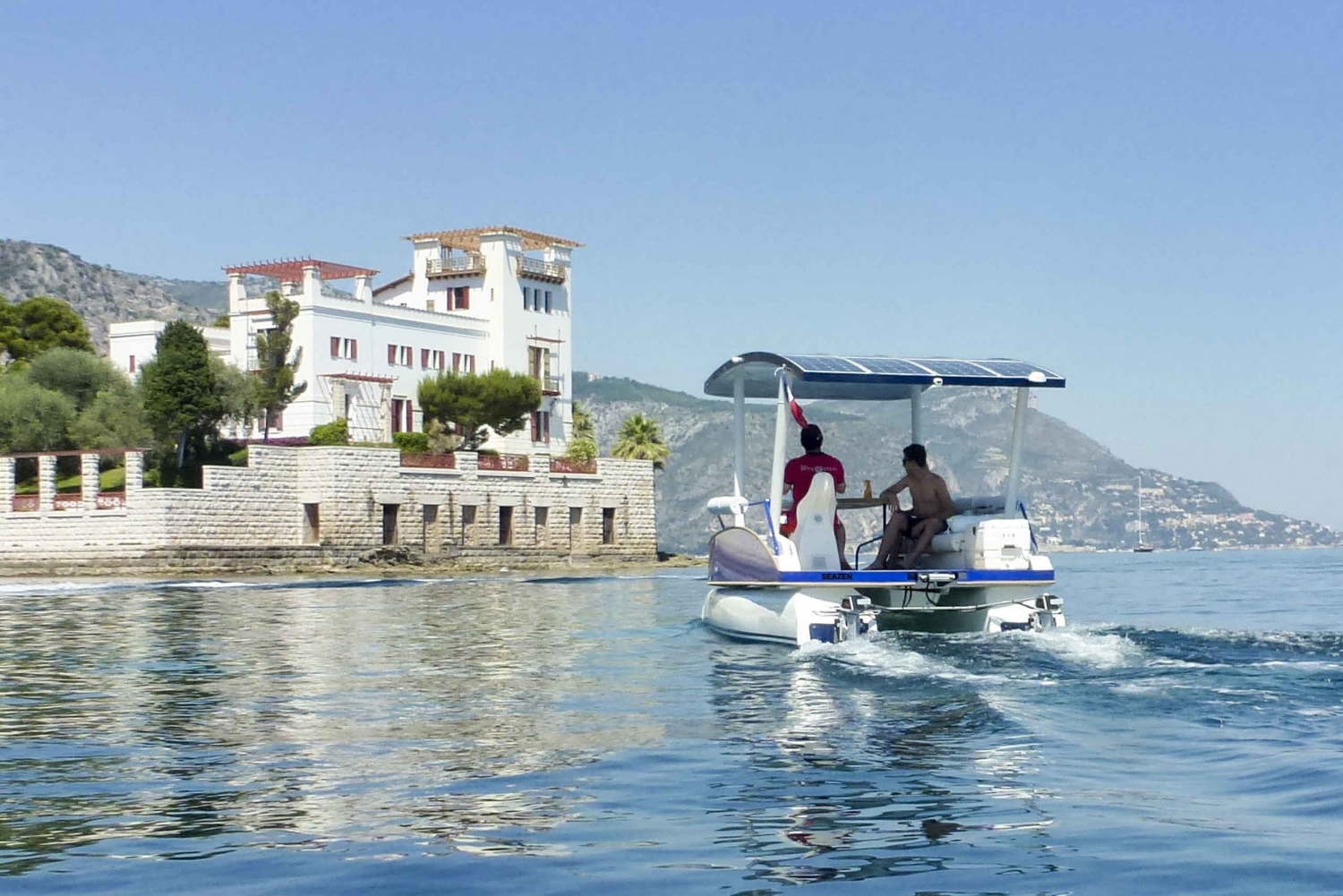 From Nice: French Riviera Heartland on a Private Solar Boat