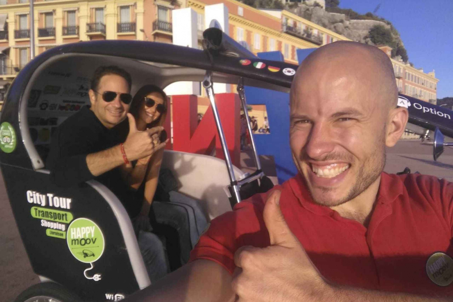 Guided Nice City Tour by Electric Vélotaxi