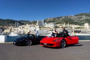Monaco 1H Ferrari & Lamborghini tours for 2 people
