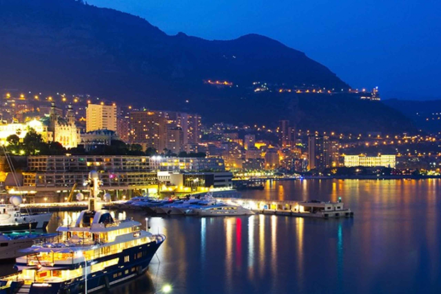 Monaco by Night 4-Hour Minivan Tour from Nice