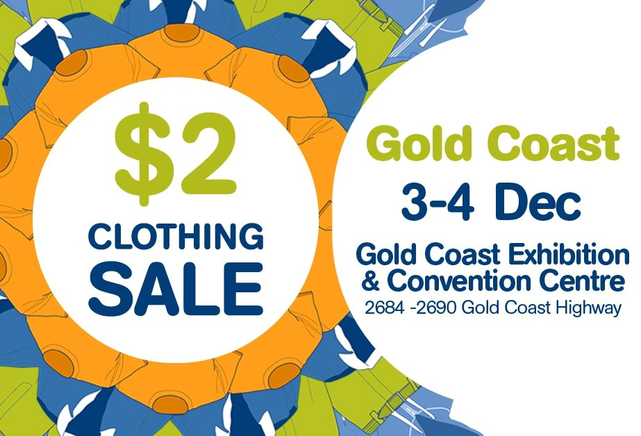 Lifeline Gold Coast $2 Clothing Sale