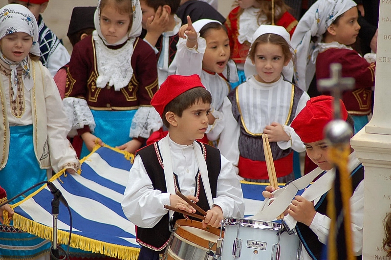 Greek Independence Day in Hydra Island