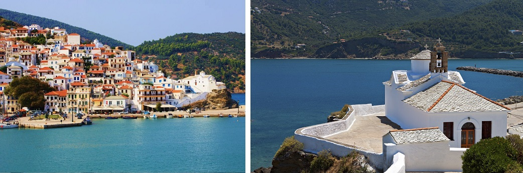 Sail around the islands of Skiathos, Skopelos & Alonissos