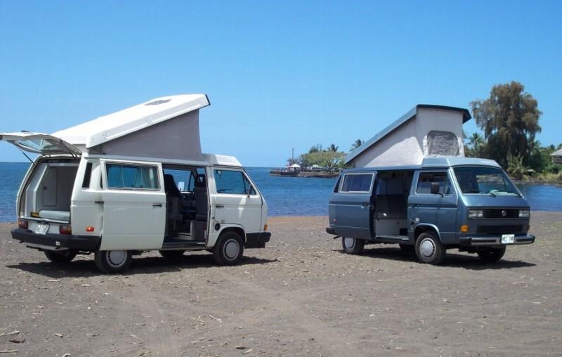 3882f9adc9 ... Travel in Packs  Camper Van  Inside of VW  Happy Campers Hawaii