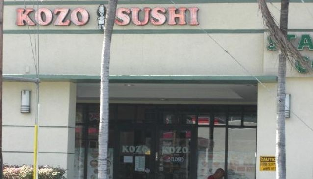 Kozo Sushi Hawaii - Kapahulu Ave.