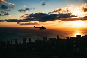 Oahu: Waikiki Sunset Doors On or Doors Off Helicopter Tour