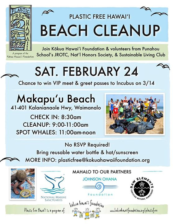 Makapuʻu Beach Cleanup with Plastic Free Hawaii!