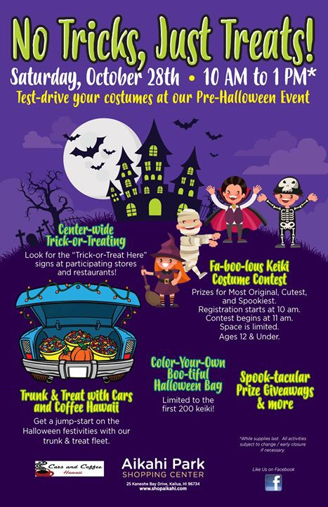 No Tricks, Just Treats at Aikahi Park Shopping Center!
