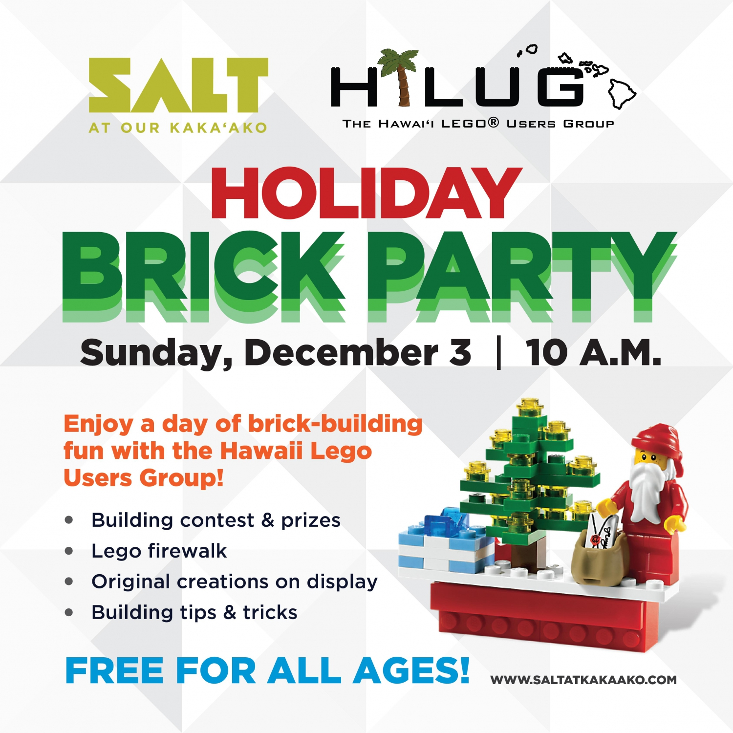 SALT at Our Kaka'ako Holiday Brick Party