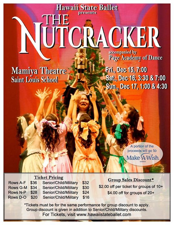 The Nutcracker presented by Hawaii State Ballet