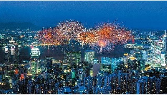 The Surreal Glare of Hong Kong City Lights