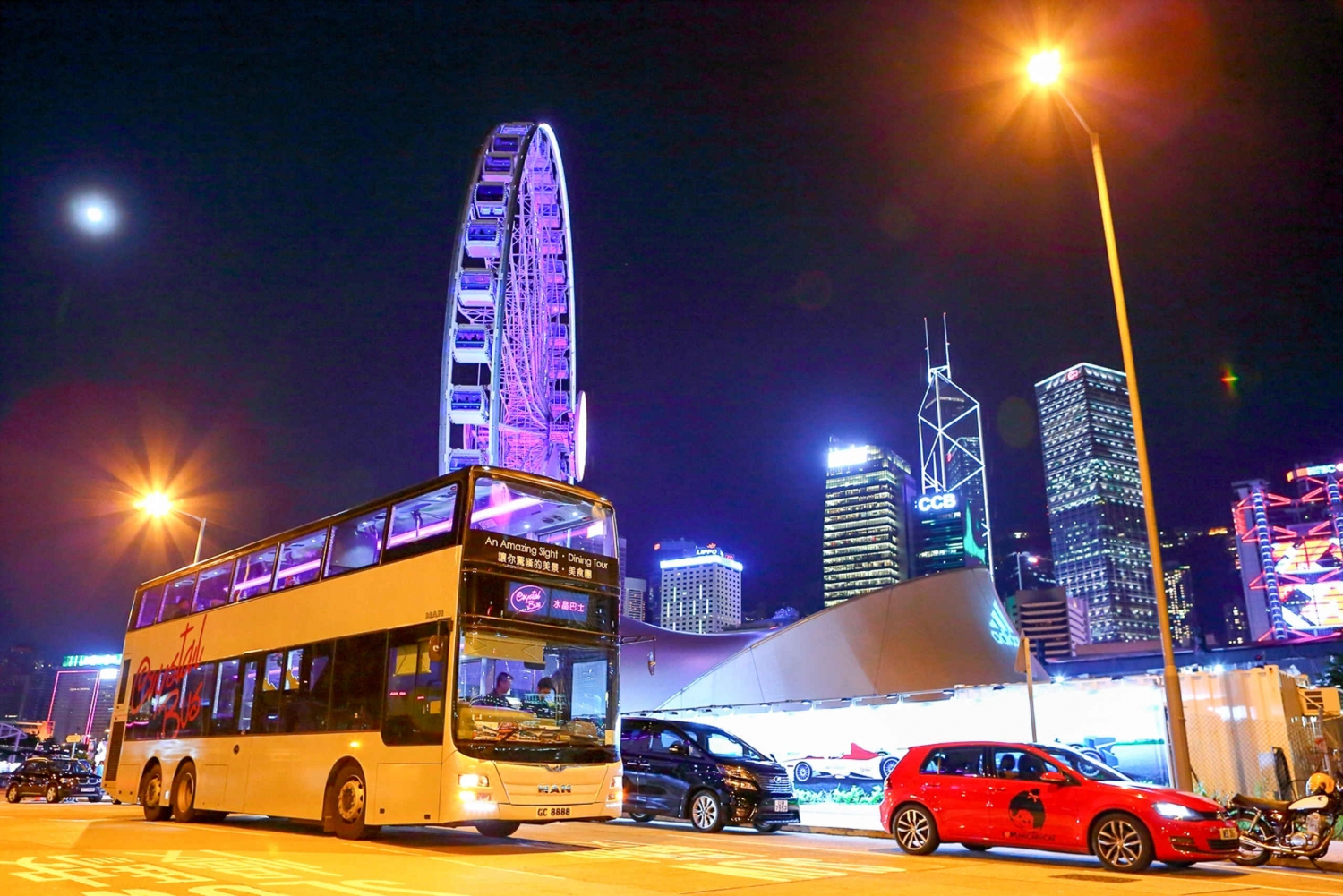 Hong Kong Dim Sum Bus 2.5-Hour Sightseeing Tour