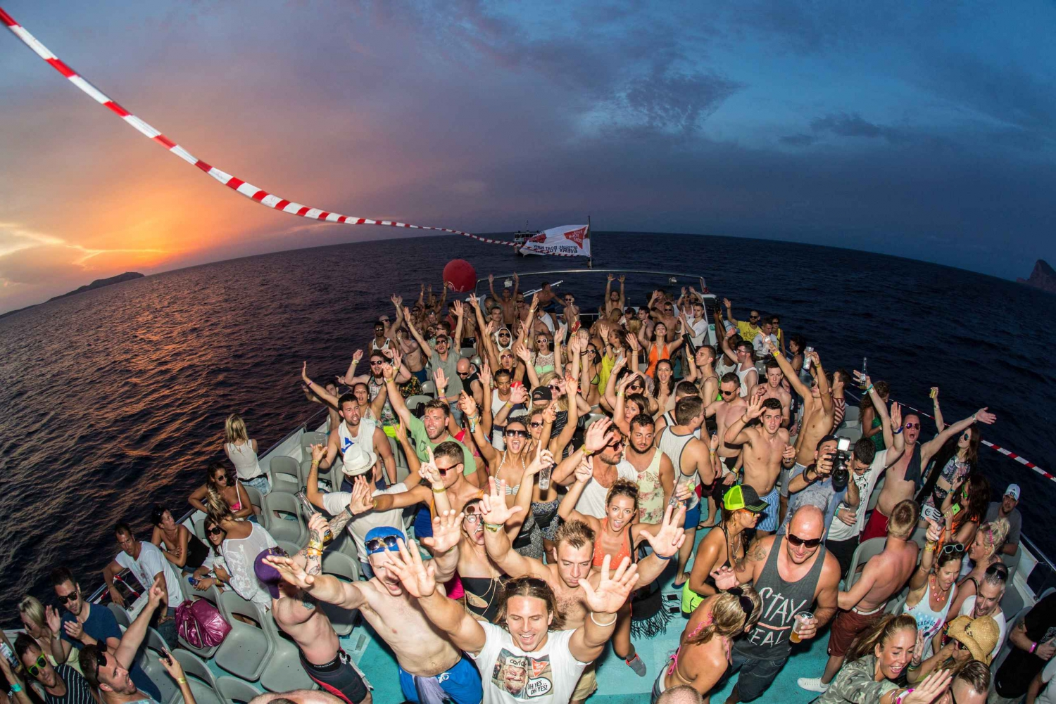 Sunset Boat Party with Open Bar and Combo Ticket
