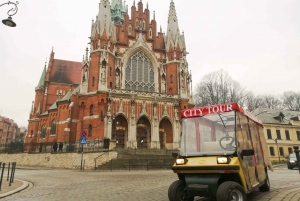 Krakow: Jewish Quarter and Schindler Factory by Golf Car