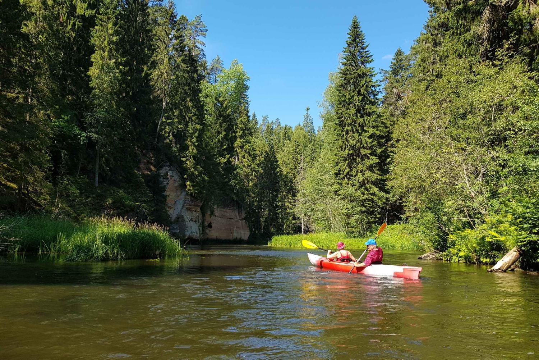 From Riga: Full-Day River Kayaking Tour to Sigulda