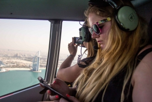 Dubai: Helicopter Flight from The Palm to The Burj Khalifa