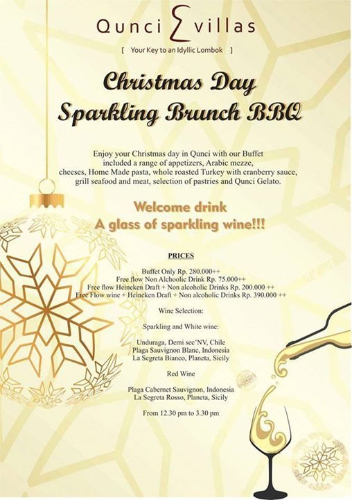 Christmas Day Sparkling Brunch BBQ at Qunci