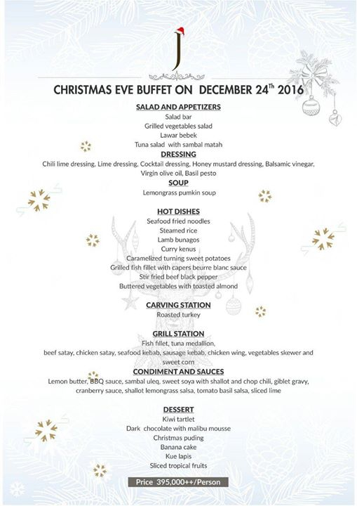 Christmas Eve Buffet at the Waroeng
