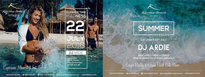 Karma Beach Gili Meno Summer Party