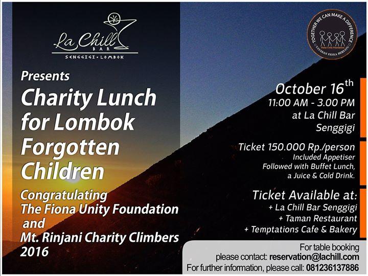 La Chill Bar Charity Lunch 2016