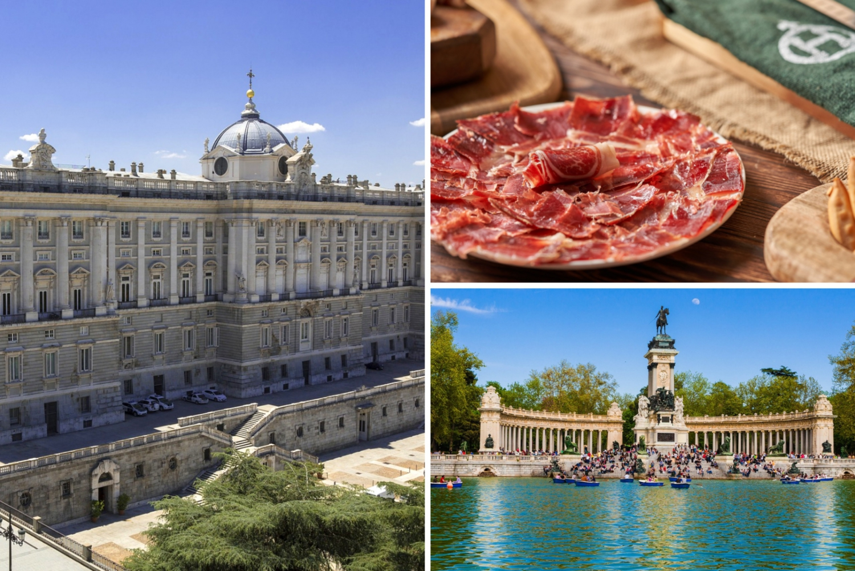 Royal Palace and Retiro Park Tour with Tapas