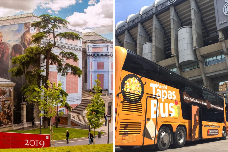 Skip-the-line Prado Museum & Tour Bus w/ Tapas