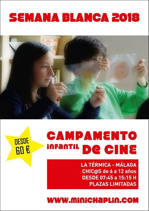 Campamento Infantil de Cine Semana Blanca 2018