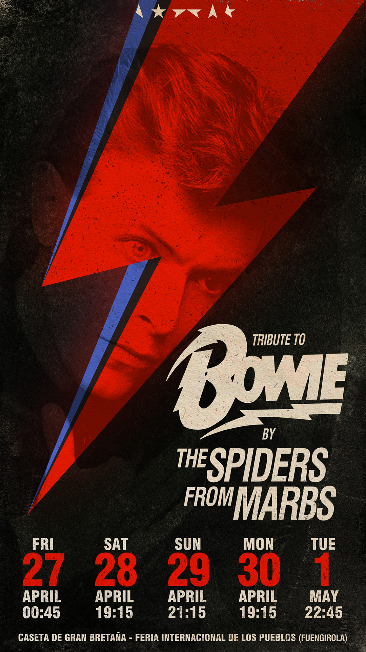David Bowie tribute by the Spiders from Marbs