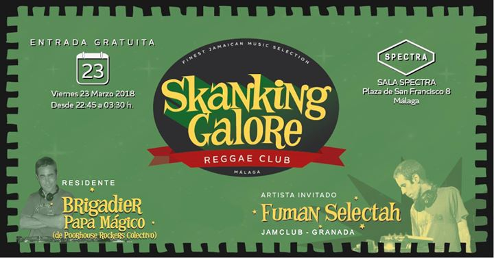 SKANKING GALORE REGGAE CLUB Presentación en Málaga!