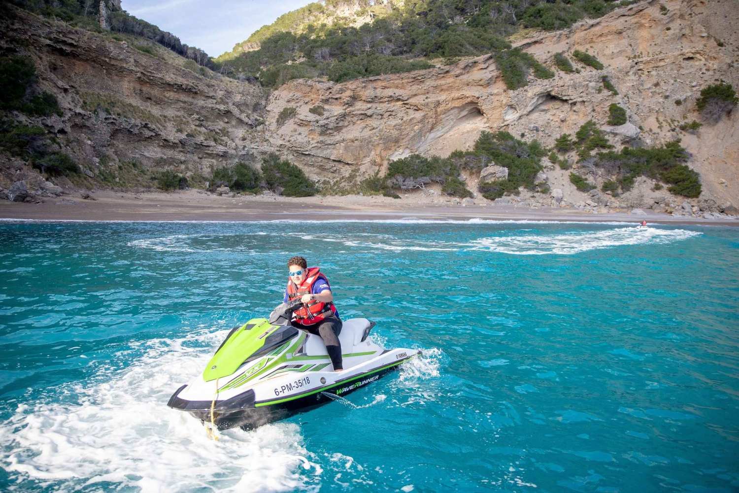 From Puerto de Alcudia: Eagle Nest Tour Jet Ski Trip