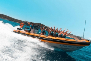 Magaluf: Boat Adventure with Beach Activities and Snacks