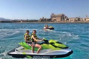 Palma de Mallorca: Jetski Tour to Palma Cathedral