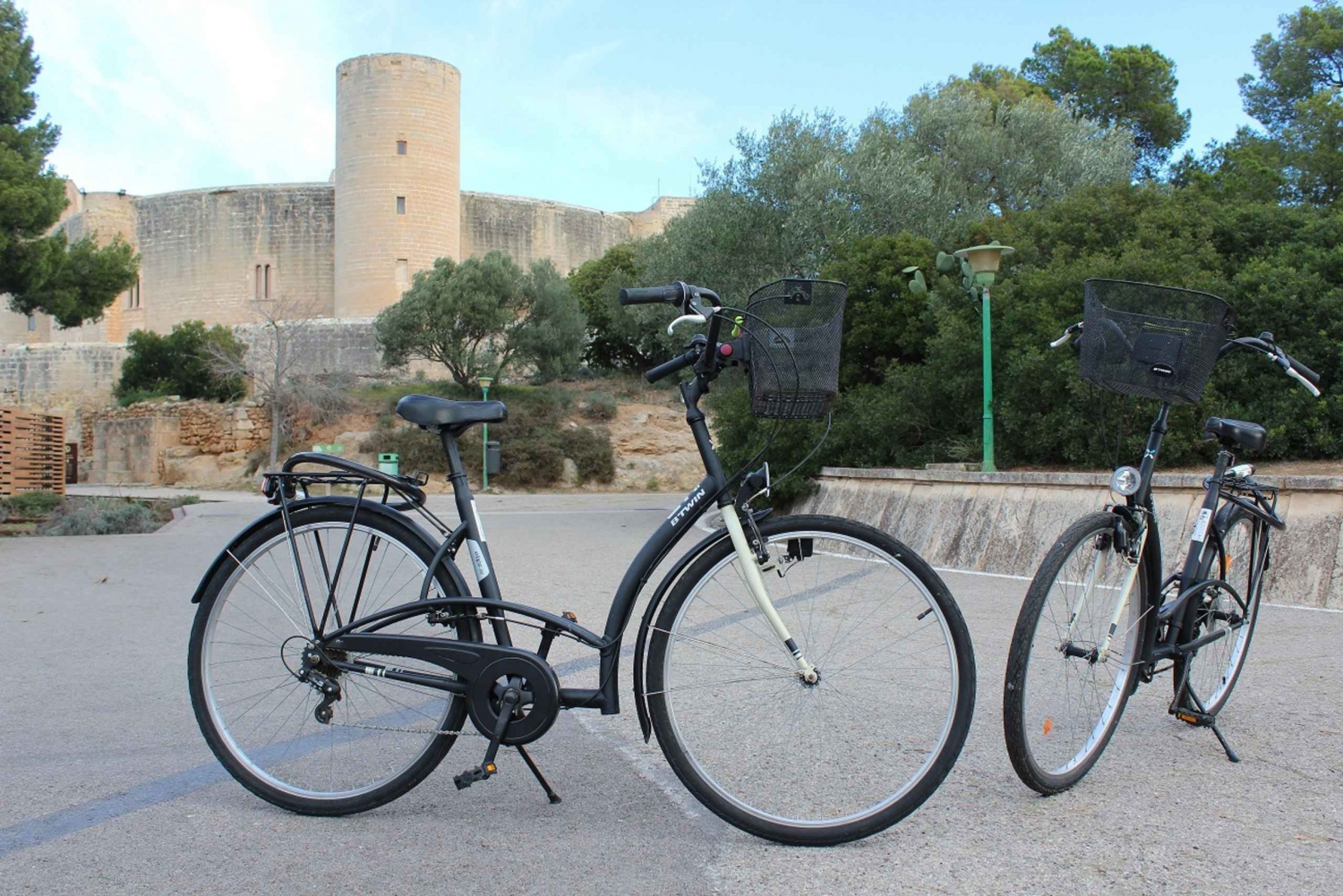 Palma Old Town and Bellver Castle Small Group Bike Tour