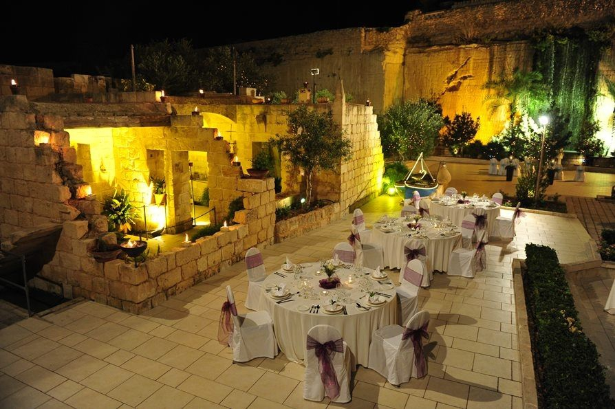 The Waterfall Gardens At The Limestone Heritage In Malta