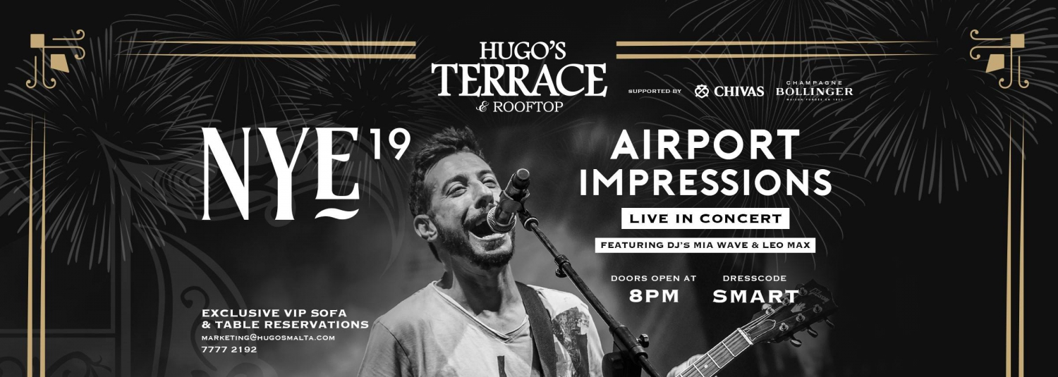 Airport Impressions LIVE in Concert at Hugo's Terrace NYE19
