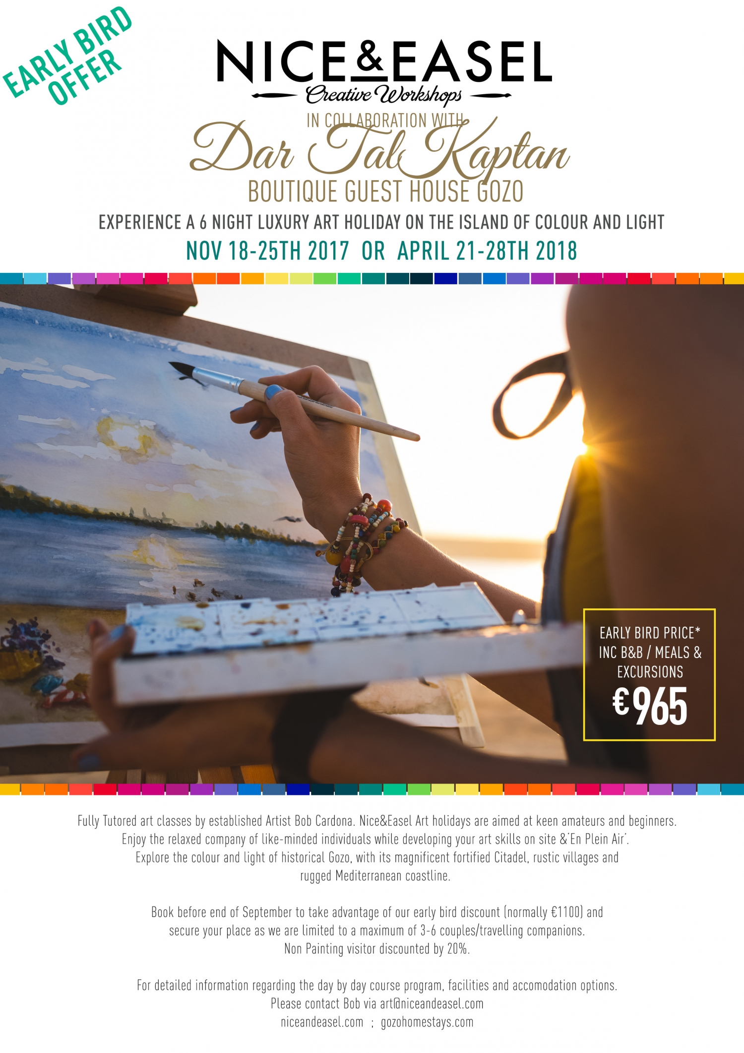 ART HOLIDAY ON GOZO – ISLAND OF COLOUR & LIGHT