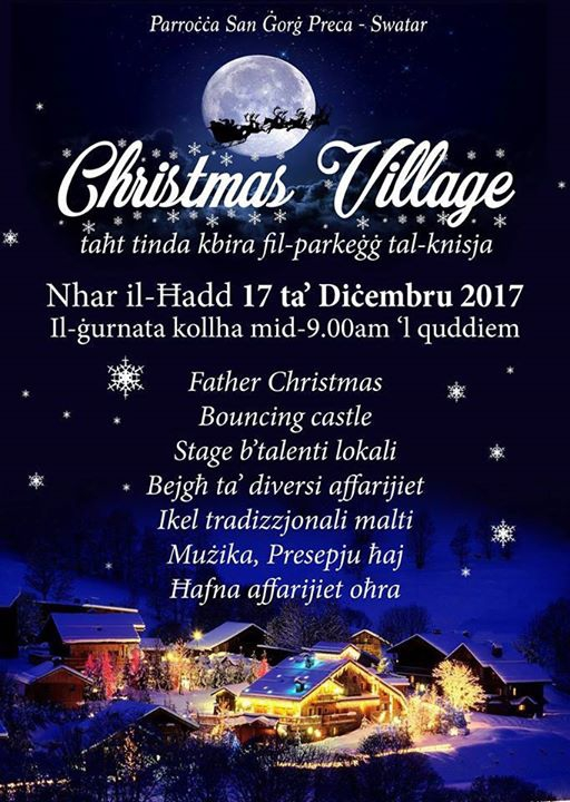 Christmas Village at San Gorg Preca Parish Church in Swatar