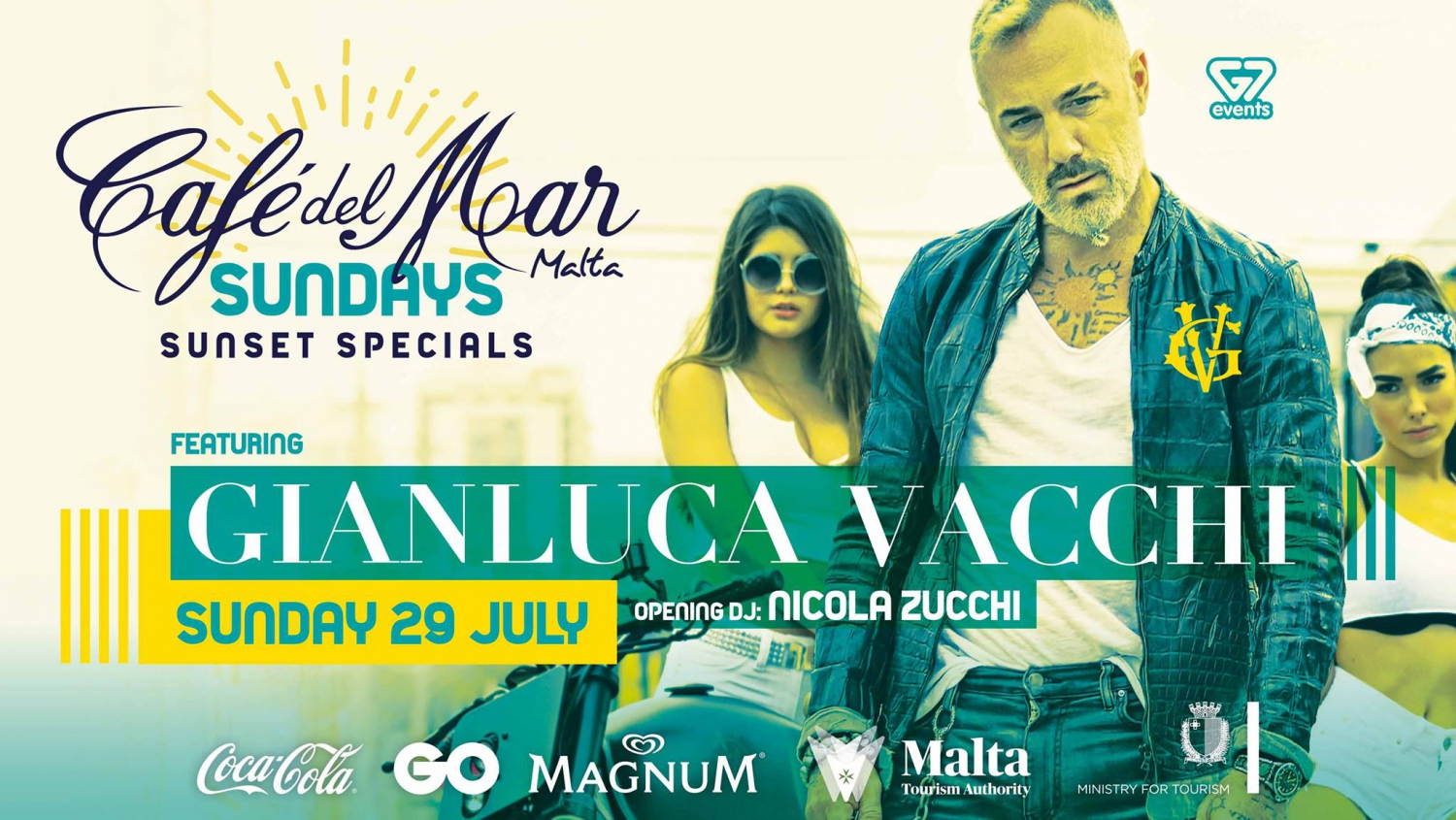 Gianluca Vacchi at Café del Mar