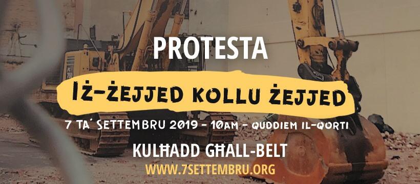 Iż-Żejjed Kollu Żejjed - Protesta