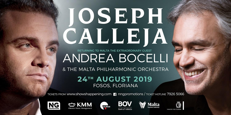JOSEPH CALLEJA 2019 with Andrea Bocelli
